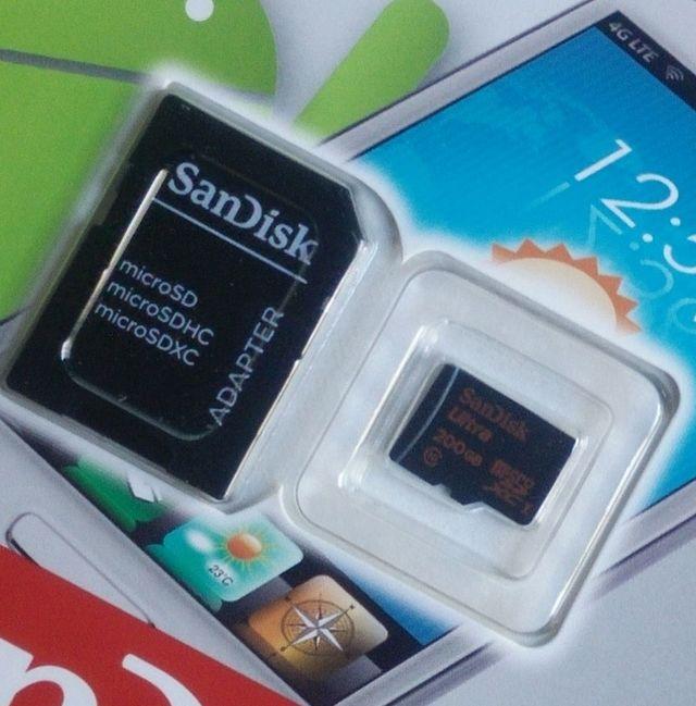 200GB Sandisk Ultra microSD mit Adapter