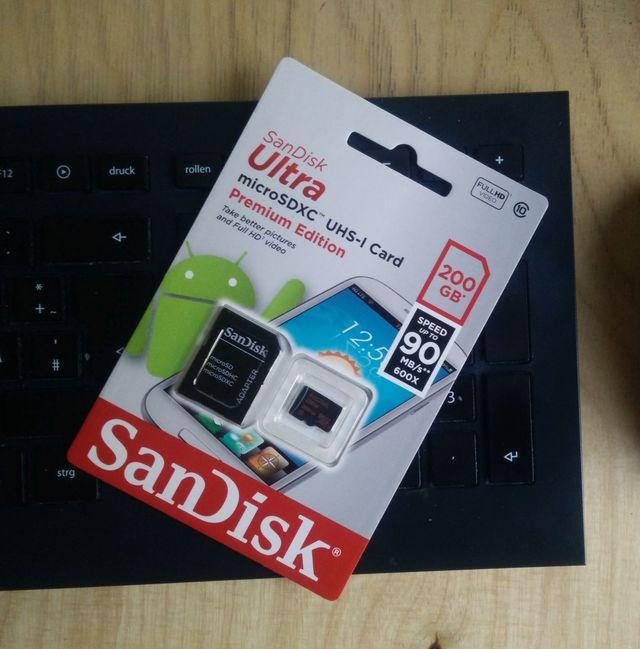 200GB Sandisk Ultra microSD Verpackung