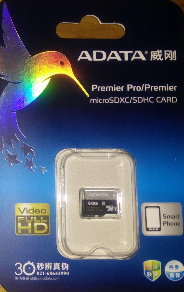 64GB ADATA Premier microSD Test