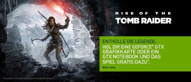 Rise of the Tomb Raider gratis zur Nvidia-GTX-970-, 980- und 980Ti-Grafikkarte