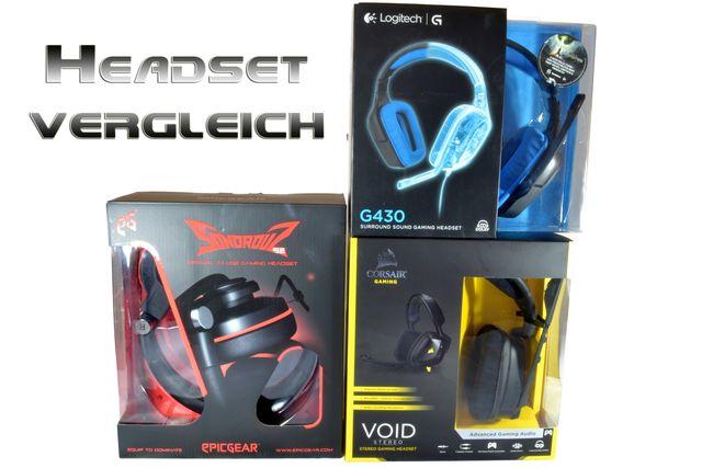 Corsair Void Stereo, Logitech G430 und Epicgear Sonorouz SE im Test
