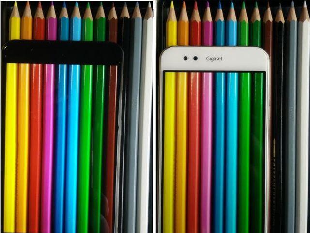Farbwiedergabe des Gigaset ME Pro vs. Gigaset ME