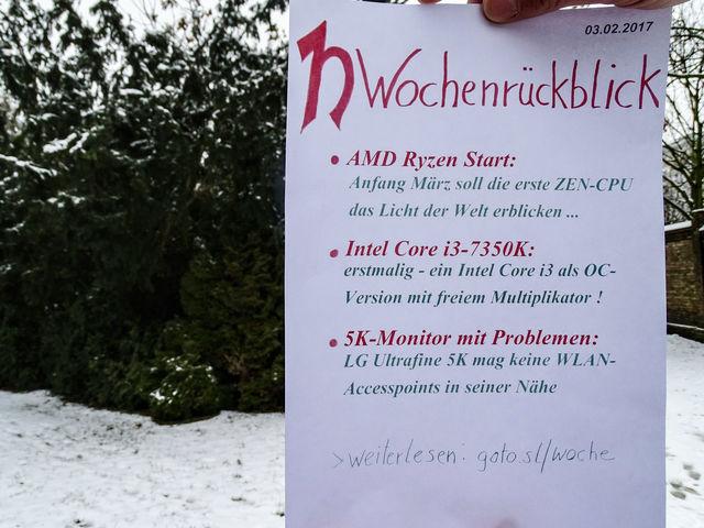 Wochenrückblick 03.02.2017