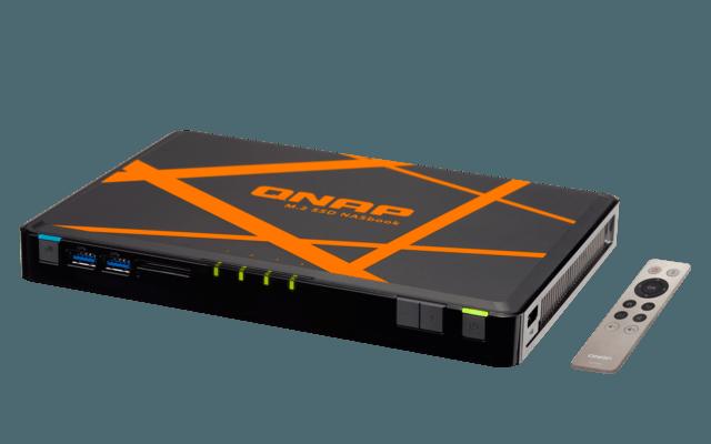Qnap TBS-453A NASbook: Erstes NAS-System mit M.2-SSDs und Switch