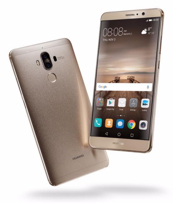 Huawei lässt das Mate 9 vom Stapel