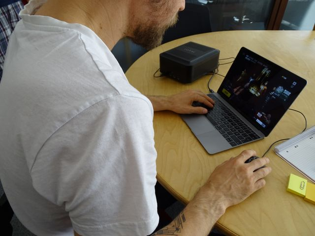 macbook with Zotac eGPU in PUBG