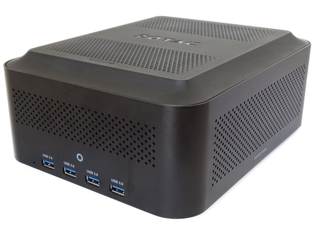 front of the zotac AMP box mini eGPU